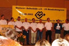 2002 - 29. Bundeskongress in Köln - Wir luden zum Kongress nach Köln ein.