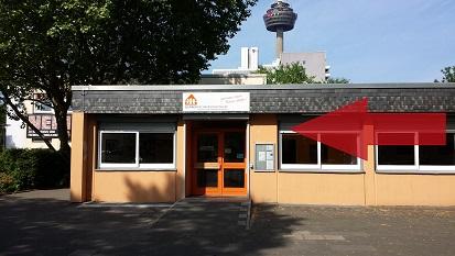 Eingang Doris-Roper-Haus